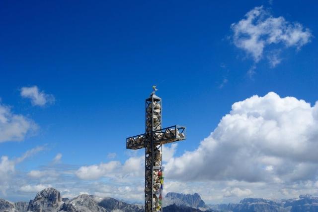 Croce di vetta della Roda di Vael