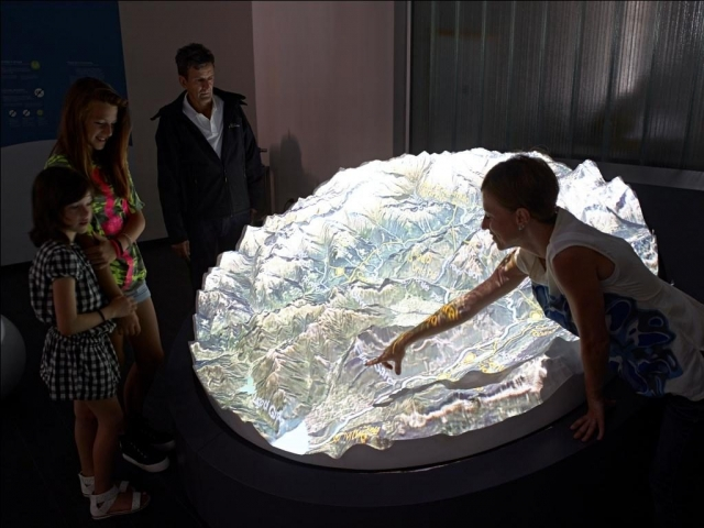 Plastico del bacino imbrifero del fiume Sarca (Archivio Gruppo Dolomiti Energia)