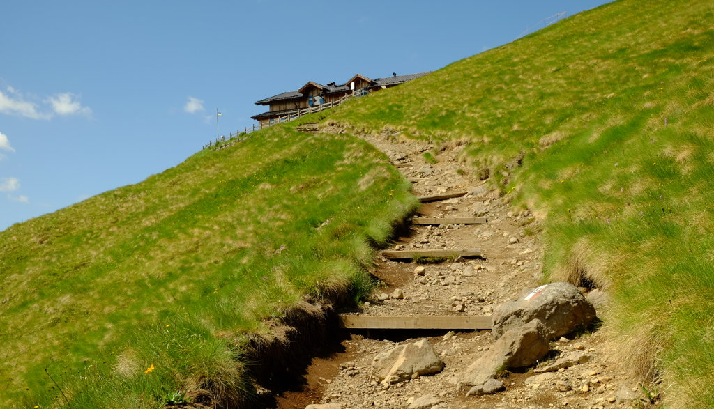 Sentiero presso il Rifugio Viel dal Pan (Ph. Mirko Ropelato)