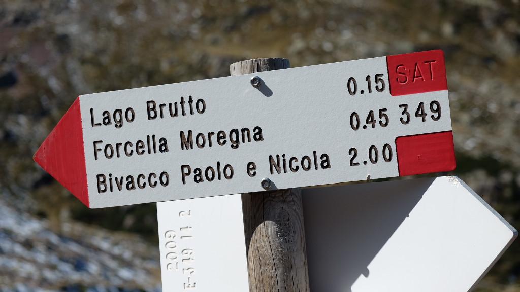 Bivio per Lago Brutto (Ph. Mirko Ropelato)