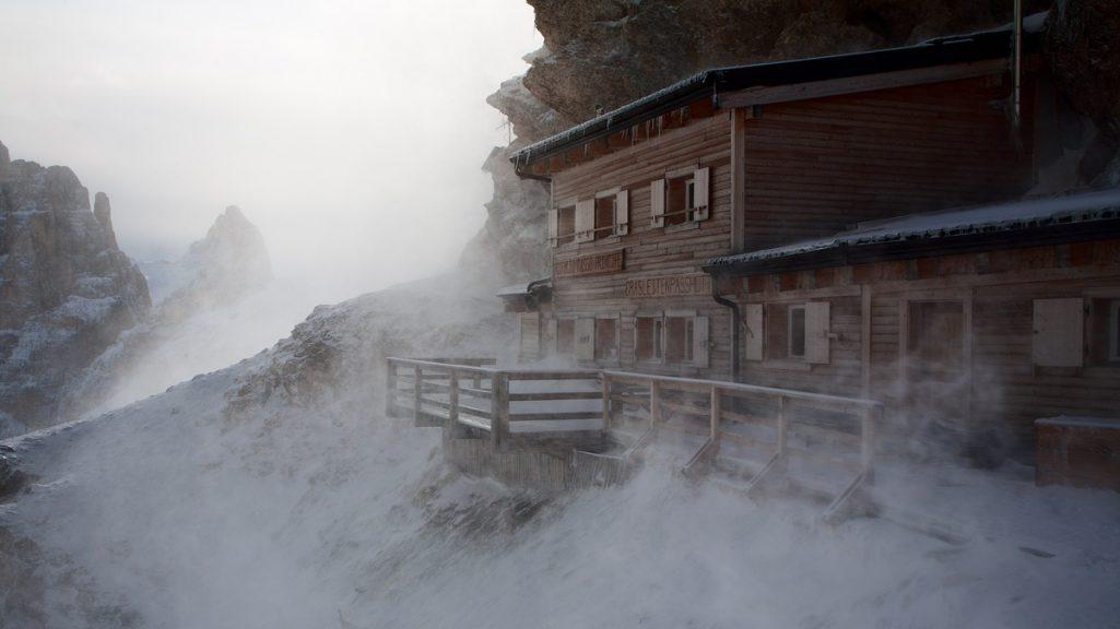Rifugio Passo Principe in versione invernale (© Rifugio Passo Principe)