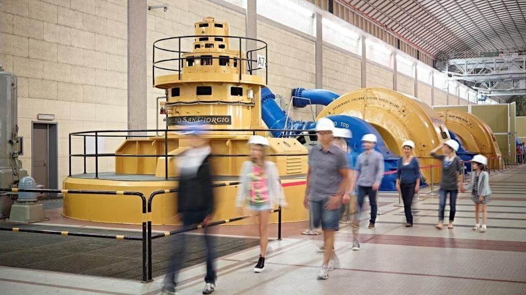 Sala macchine - Centrale idroelettrica di Santa Massenza